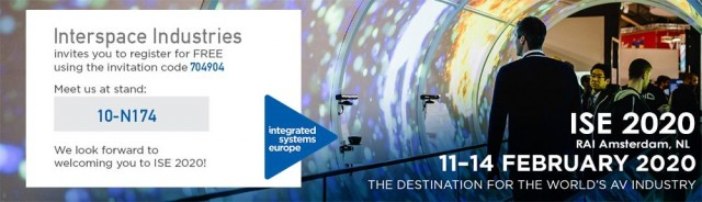 Free tickets for the #ISE with Interspace Industries