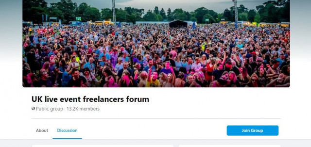 Join the new Facebook Group for #liveevents #freelancers - Find helpful advice & share information to support each other